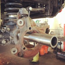 Axle sleeve installation