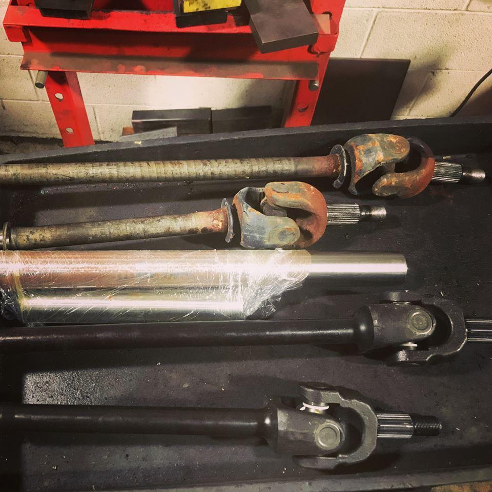 Chromoly axle installation